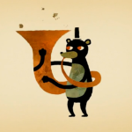 Worms Playing Instruments and Other Quirky Art by Scott Benson