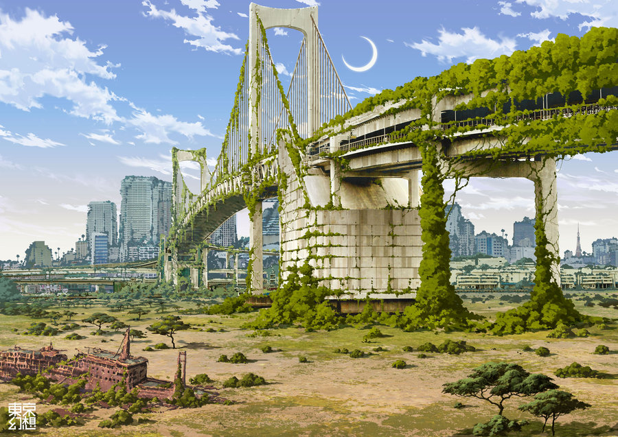 A Glimpse at Post-Apocalyptic Tokyo