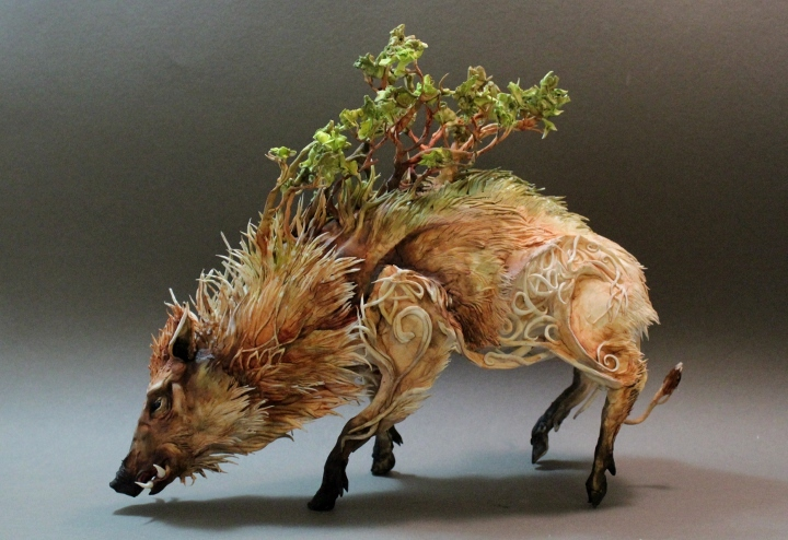 Ellen Jewett's Surrealist Animal Sculptures