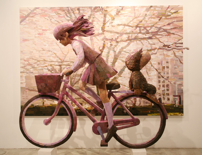 Shintaro Ohata's Combination Sculpture Paintings