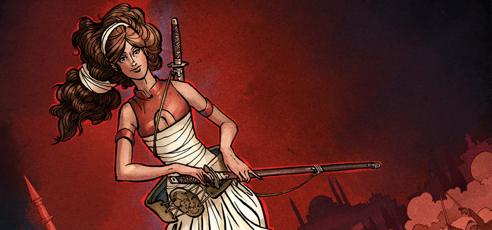 "Meet the Butt-Kicking Heroine of ""Delilah Dirk and the Turkish Lieutenant"""