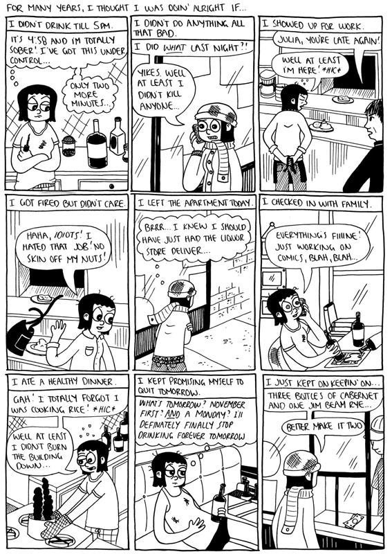 Cartoonist Julia Wertz Illustrates Her Struggle with Alcoholism in These Darkly Humorous Comics