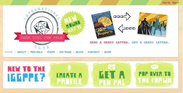 Find a Geeky Pen Pal With the International Geek Girl Pen Pal Club