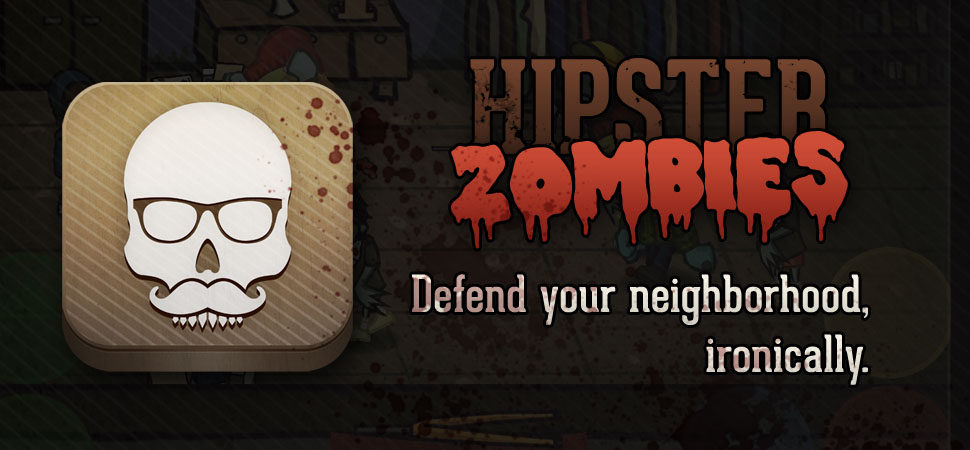 "Attack with PBR and Vinyl Records in Indie Game ""Hipster Zombies"""