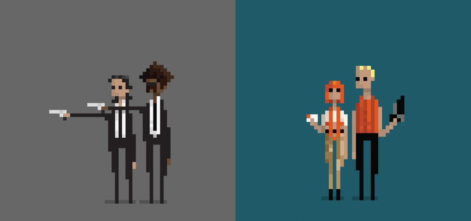 """""""Pixelwood,"""" 8-bit Versions of Iconic Movie Scenes"""