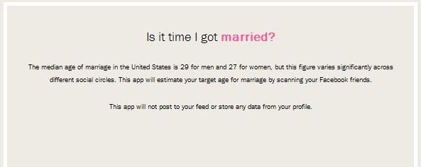 Isn't It Time You Were Married? This App Has the Answer