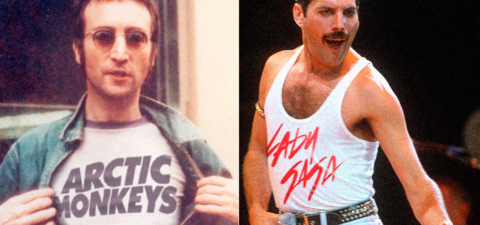 Music Legends Don the Shirts of Modern Day Artists in Photo Project