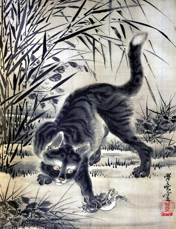 Ancient Cats of 19th Century Japan