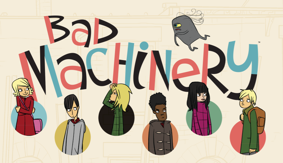 "Supernatural Mysteries Meet Teenage Awkwardness in ""Bad Machinery"""