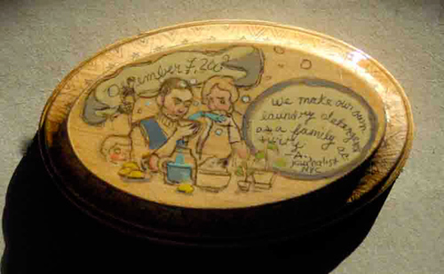 Recession Souvenirs: A Project That Translates Recession Stories into Little Wooden Plaques