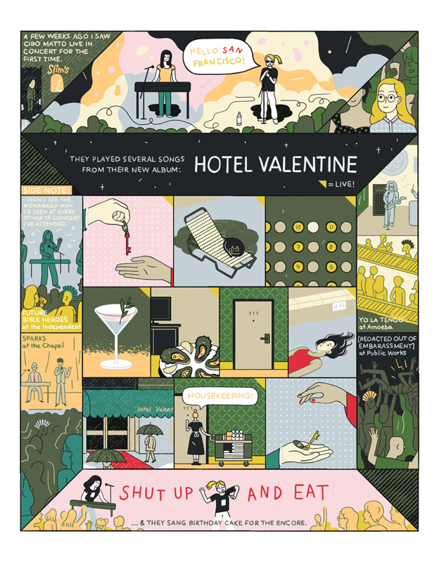 One Illustrator's Love for the Band Cibo Matto Gets Depicted in Comic Form