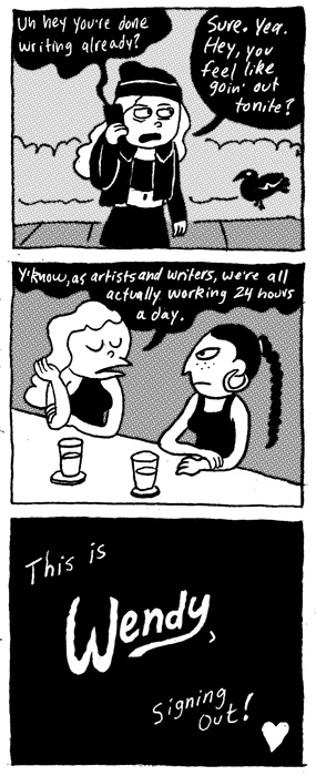 """Wendy,"" a Punk-ish Comic About Art, 20-Somethings, and Personal Branding"