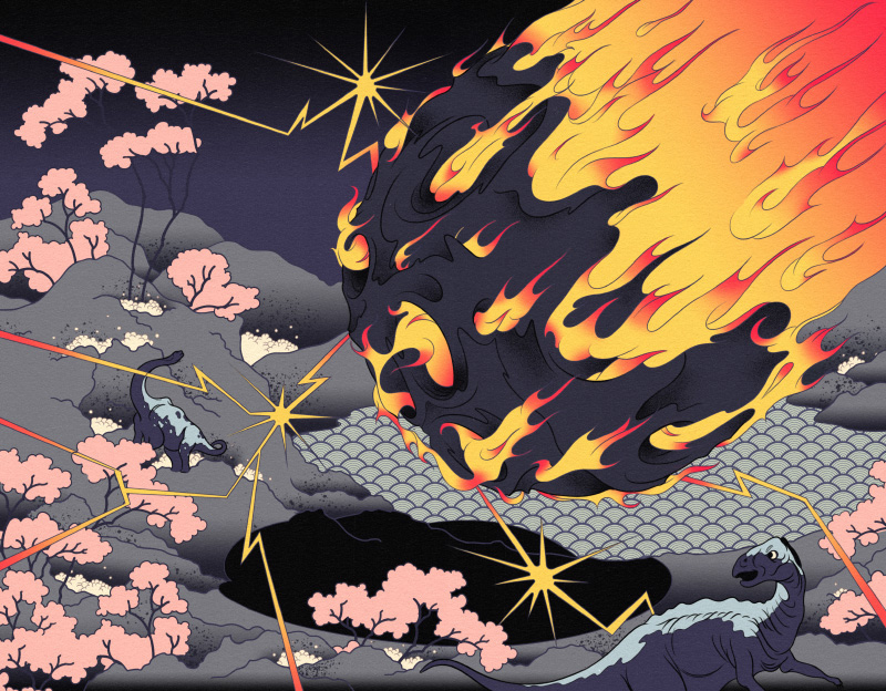 Doomsday Illustrations Inspired by Japanese Woodblock Prints