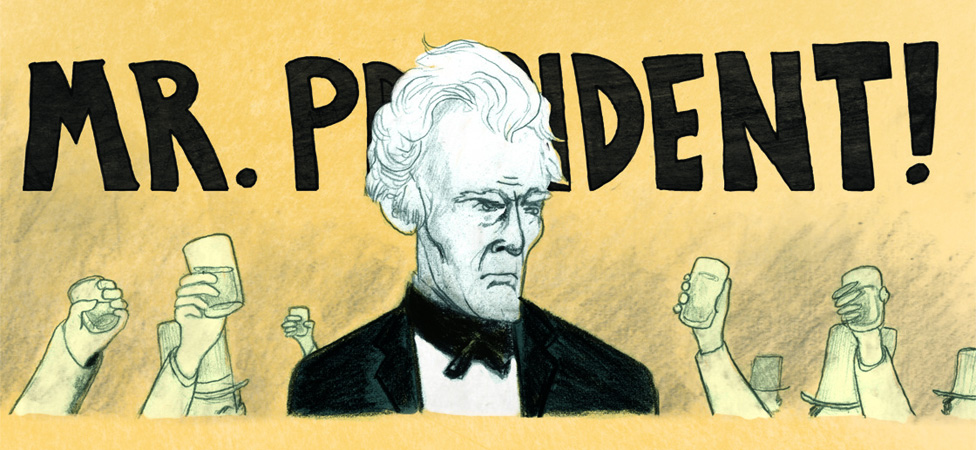 """Andrew Jackson Throws a Punch,"" a Hilarious (and Historical) Comic by Andrea Tsurumi"