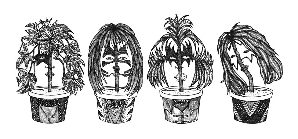 Illustrator Jingle Drew Reimagines Iconic Musicians as Literal Potheads