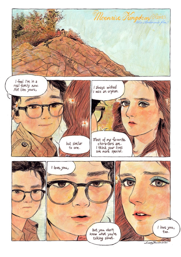 Here's a Series of One-Page Comics of Iconic Movie Scenes