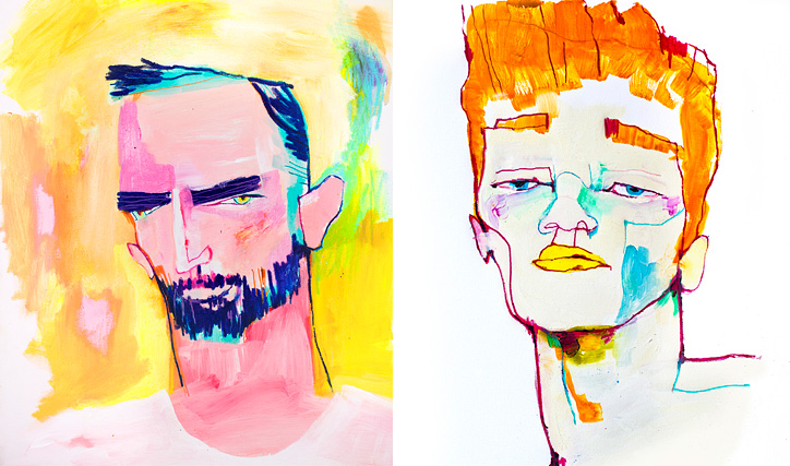 Albert Madaula's Portraits Are Colorful Depictions of Male Beauty