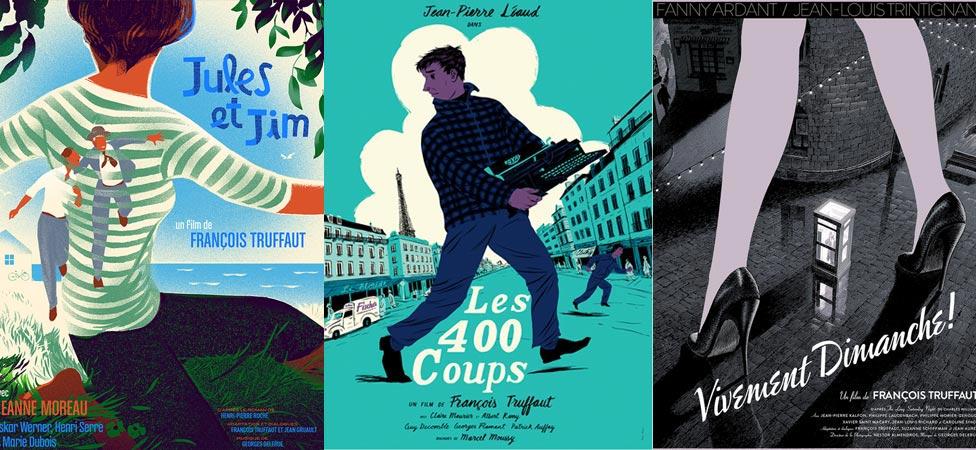 Art Posters That Reinterpret François Truffaut Films