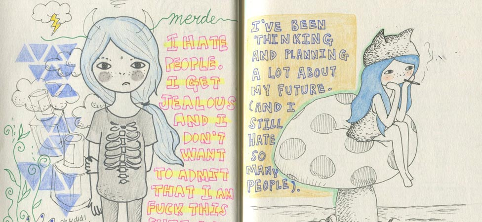 A Visual Journal of Loneliness and Broken Hearts