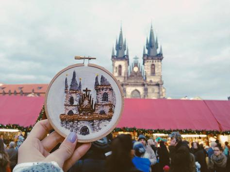 Sew Wanderlust: An Embroidery Project That Captures Landscapes From Around the World