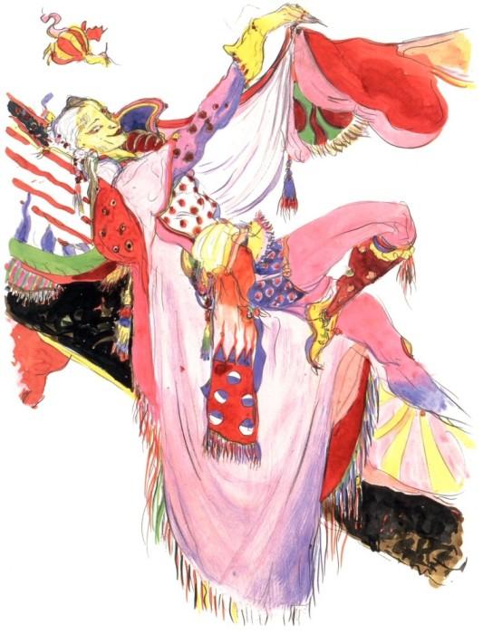 """Yoshitaka Amano's Art for """"Final Fantasy VI"""""""