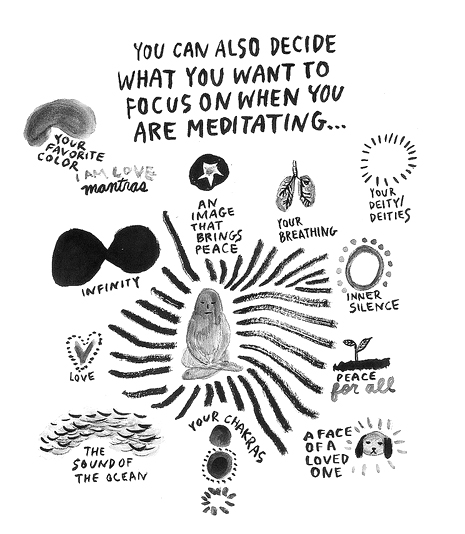 Yumi Sakugawa's Illustrated Meditation Guides