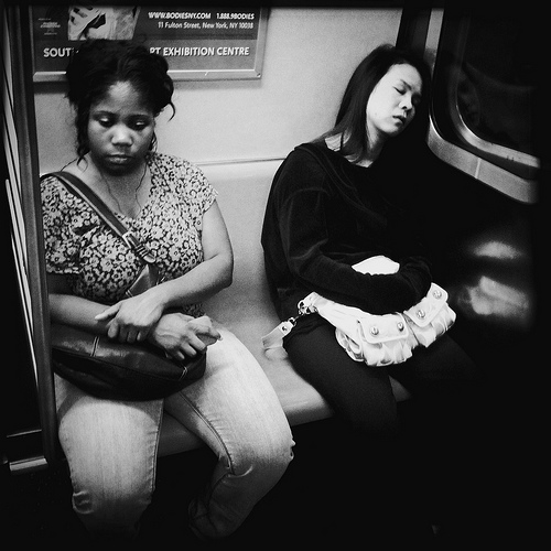 People Sleeping on the Subway