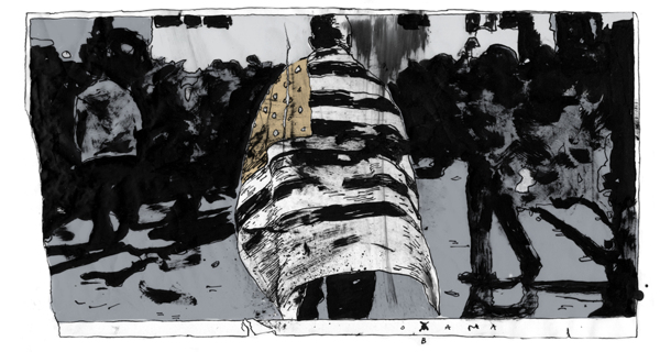 """""""18 Panels,"""" an Abstract Comic Pieced Together With Newspaper Images"""