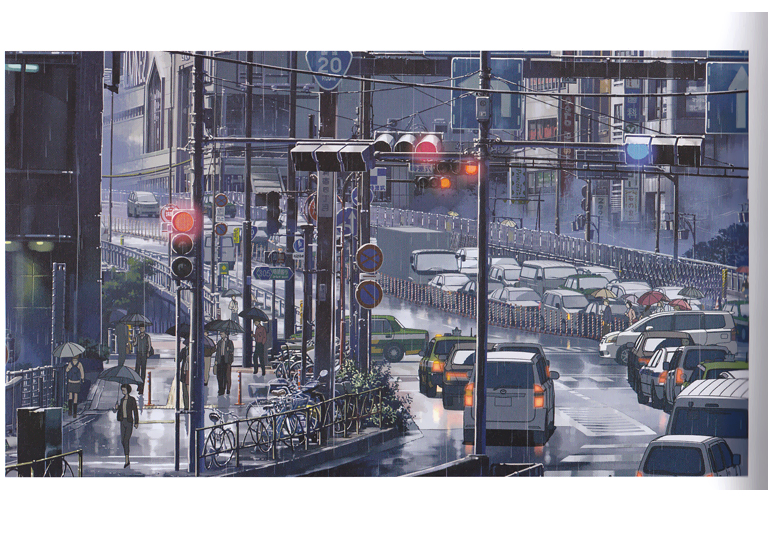 "Art From Makoto Shinkai's ""The Garden of Words"""