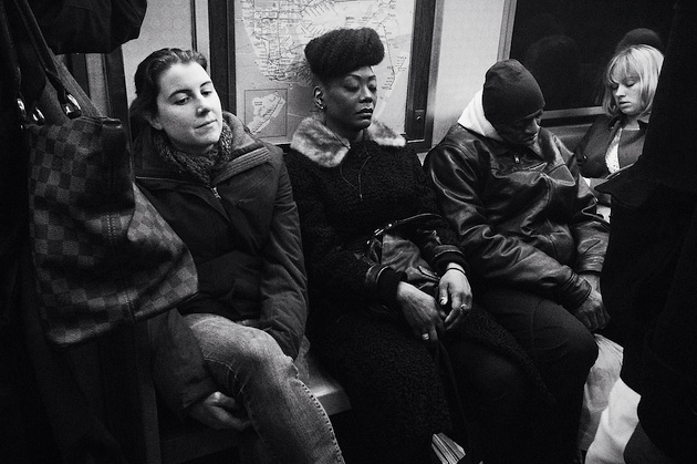 People Sleeping on the Subway