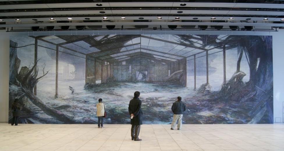 Huge Watercolor Mural Paintings by Hiroshige Kagawa