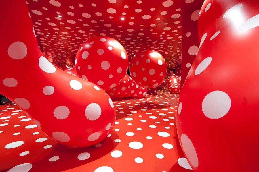 Yayoi Kusama's Speckled Landscapes