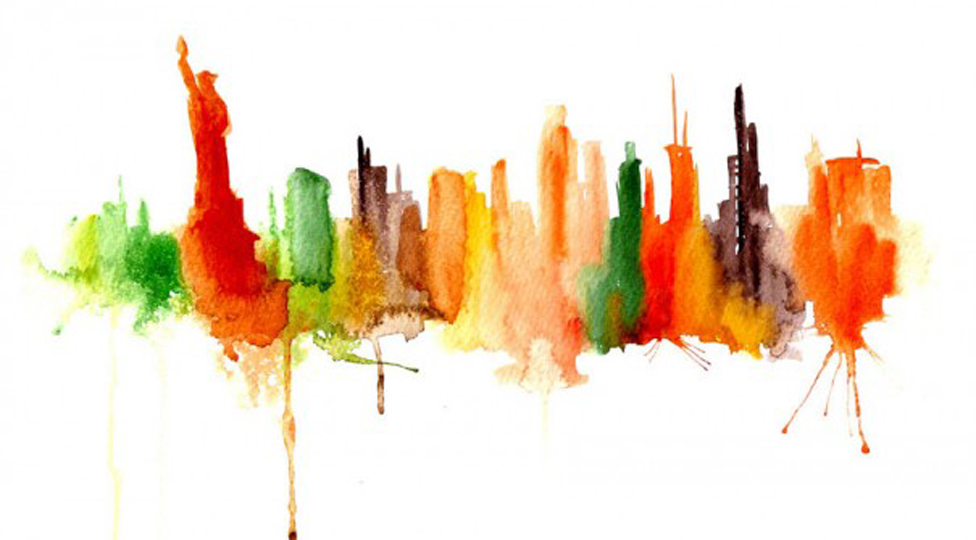 Elena Romanova's Watercolored Skylines Find Detail in the Diluted