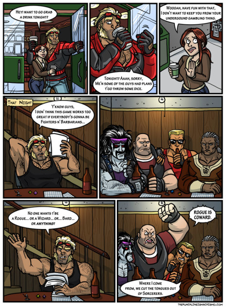 The Punchline Really Is Machismo in This Parody Comic by Kelly Turnbull