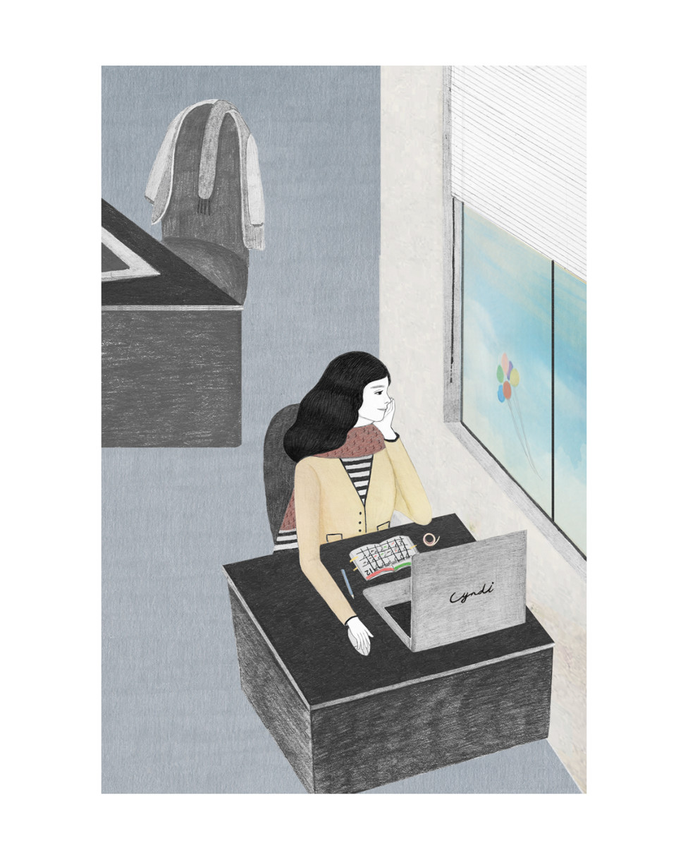 Miss Cyndi's Illustrations Speak to the Solitary Life of a Freelancer