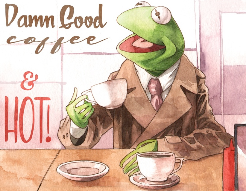 "The Muppets Meet ""Twin Peaks"" in This Hilarious Illustration Series by Justin DeVine"