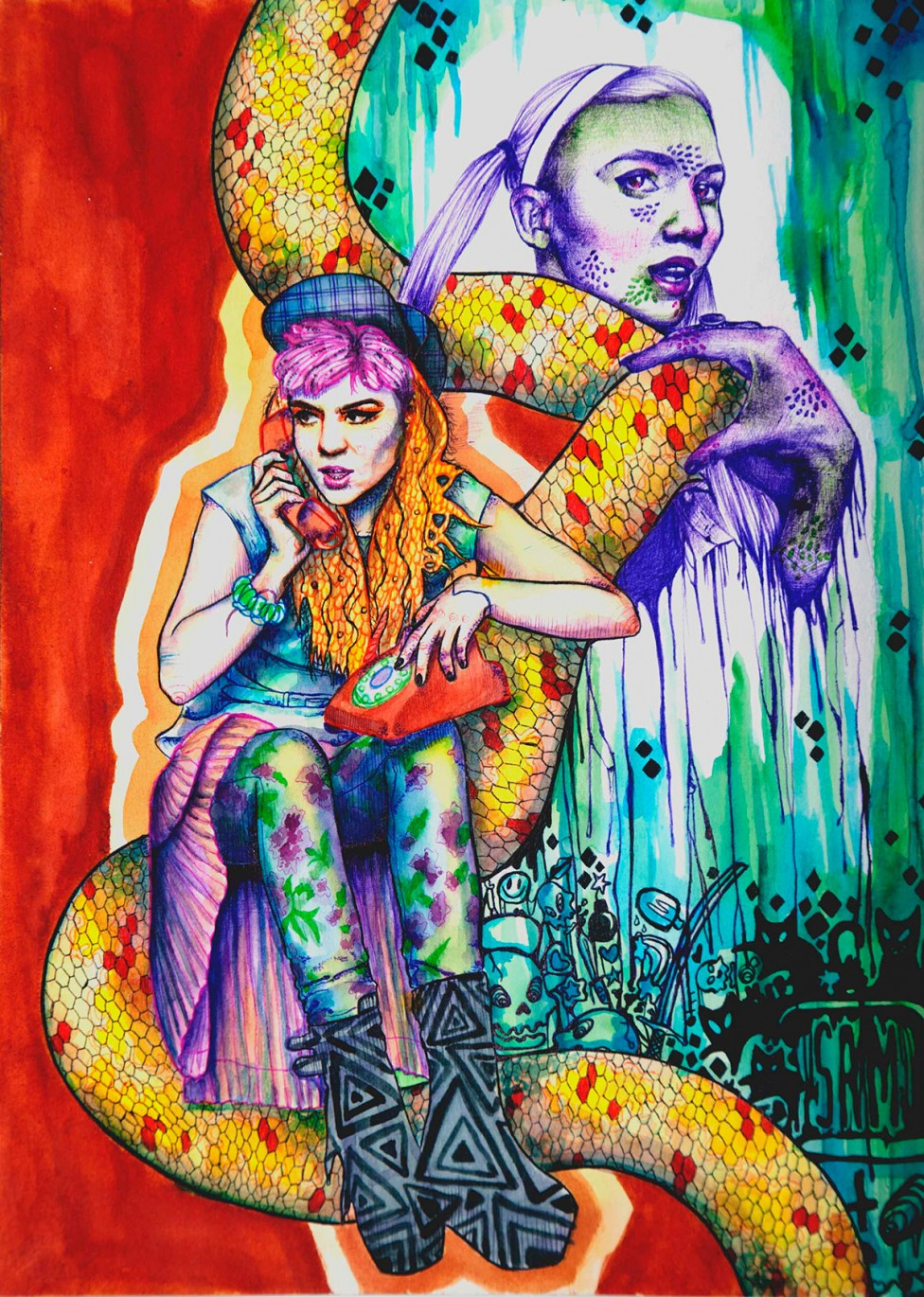 Various Artists Illustrate These Stunning Portraits Of Singer Grimes